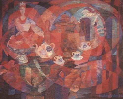 Русский чай.   Гобелен.   1973 год.