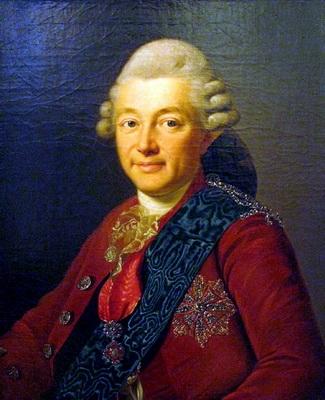 Граф А. С. Строганов, покровитель художника в России