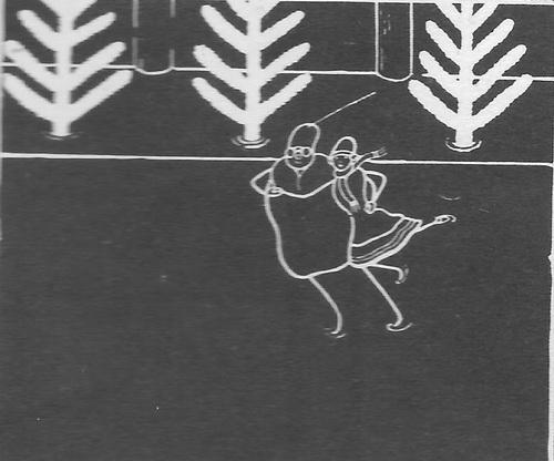 Д. Черкес, И. Иванов-Вано. Эскиз к мультфильму «Каток». 1927 г.