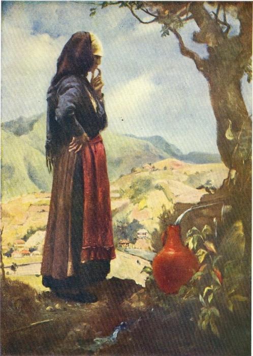 У. Джапаридзе.  Думы матери. масло. 1945 г.