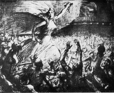 Стейнлен. Освободительница. Литография. 1903 г.