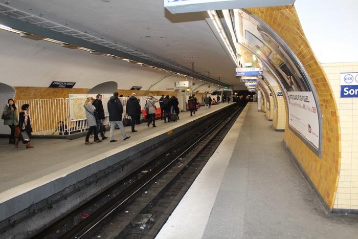 Париж. Станция метро Шарль де Голль Этуаль. (Фотография взята из открытого источника в Интернете).