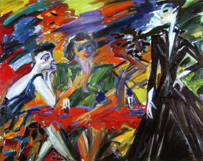 Анна Бирштейн. Маша на дискотеке. 1996 г. Холст, масло. 120х150 см