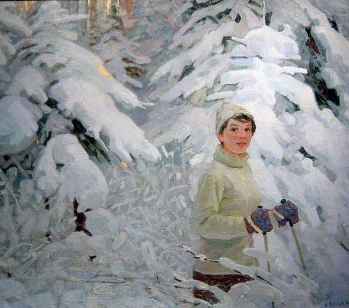 А.П. Белых «Зимняя сказка» 1963 г. Холст, масло.