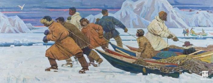 Михаил Васильевич Лукин. Рыбаки Индигирки. 1963 г.