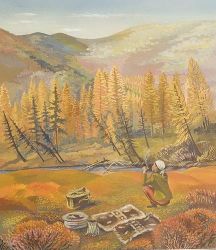 Рахлеева М.А. «Долина реки Токко»  Из серии