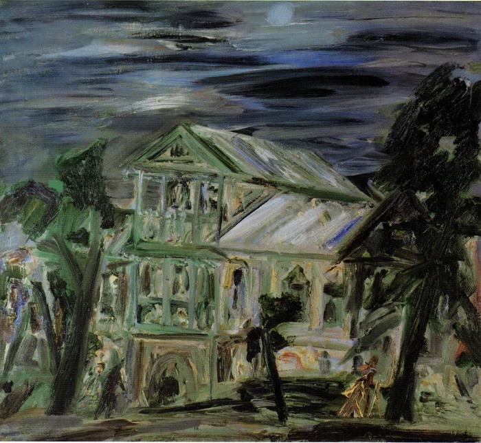 Анна Бирштейн. Дом в Тарусе. 1995 г. Холст, масло. 90х100 см