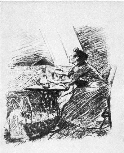 Стейнлен. «Радости лета». Литография. 1894 г.