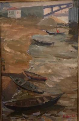 Израиль Маркович Ашкенази «Нижний Новгород»  Холст, масло. 60х39,5 см 1960 г.