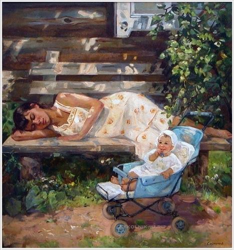 Сайкина Александра Васильевна  «Лето» 1987 г.