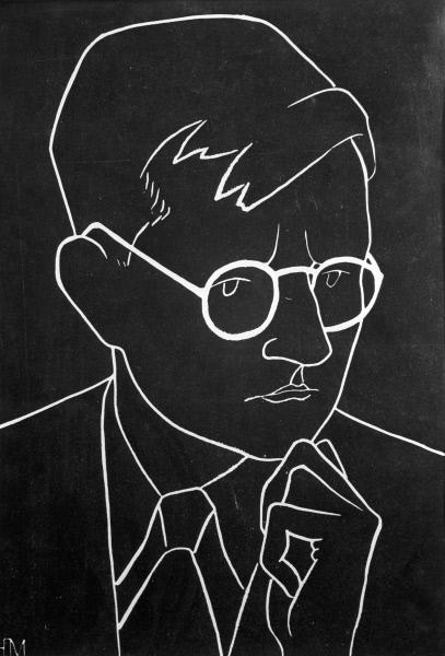 Ю.Б. Могилевский  «Шостакович». Линогравюра.