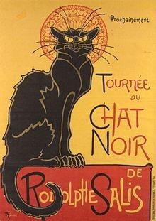 Стейнлен. «Чёрный кот». Плакат одноимённого кабаре.