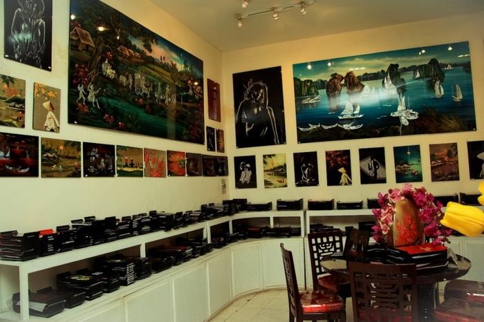 Современный салон лаковой живописи во Вьетнаме