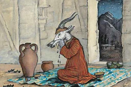 Юрий Васнецов. Иллюстрация к таджикской сказке «Коза с кудрявыми ножками»