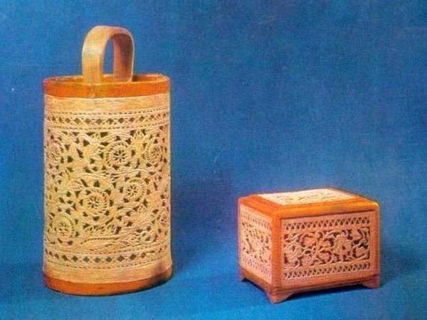 Прорезная шемогодская береста (из собрания Музея этнографии, Спб)