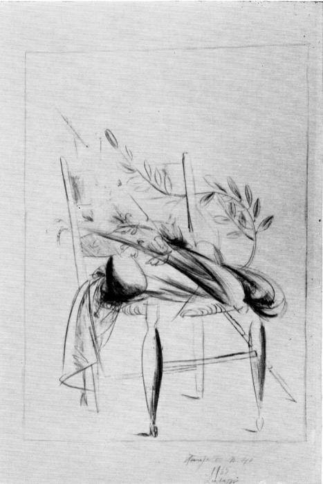 Дж. Манцу «Натюрморт на стуле» 1966 г.