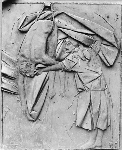 Дж. Манцу. «Насильственная смерть»  Бронза. 1963 г.