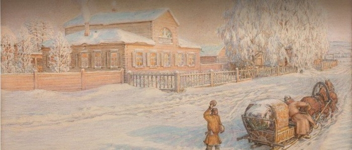 Аполлинарий Васнецов  «Наш дом. Рябово.»   1919 г.