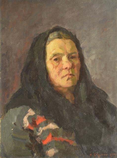 В.Б. Скуридин «Фёкла Матвеевна» Холст, масло. 60х45 см 1959 г.