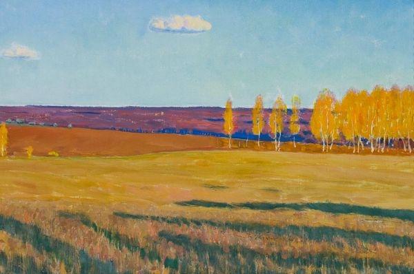 В. М. Сидоров «Осень» Холст, масло. 39х76 см