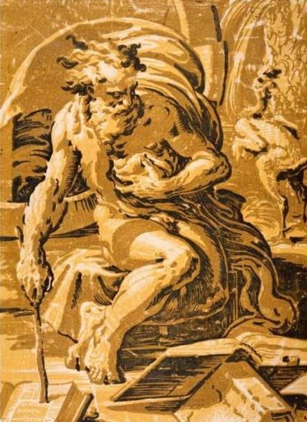 Уго да Карпи. Диоген. Кьяроскуро. Около 1527 г.