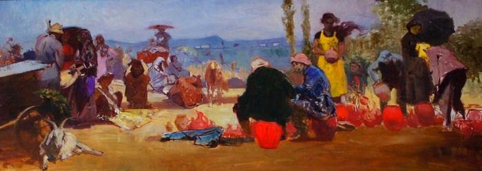 У. Джапаридзе. Колхозный базар. Масло. 1960—1961 гг.