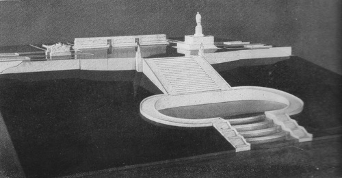 Скульптор В. Топуридзе, архитектор А. Власов. Проект памятника В. И. Ленину для г. Москвы. 1959 г.