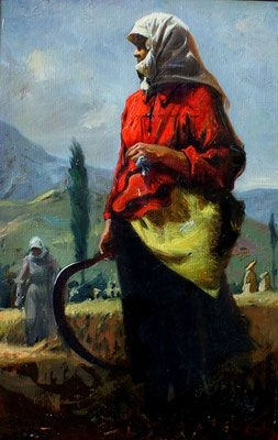 У. Джапаридзе. Колхозница из Гарни. Масло. 1951 г.
