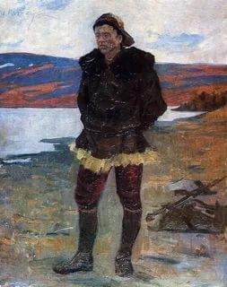 Иван Васильевич Рыбачук «Учитель из красной яранги» Холст, масло. 1964 г.