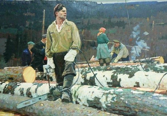 «Лесорубы» — наиболее известная картина А.П. Белых