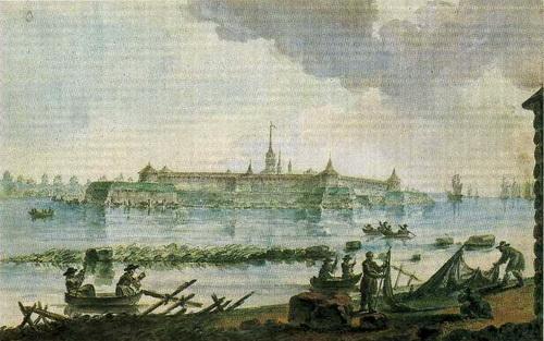 Жан Балтазар де ла Траверс  «Вид на Шлиссельбургскую крепость»  1784 г.