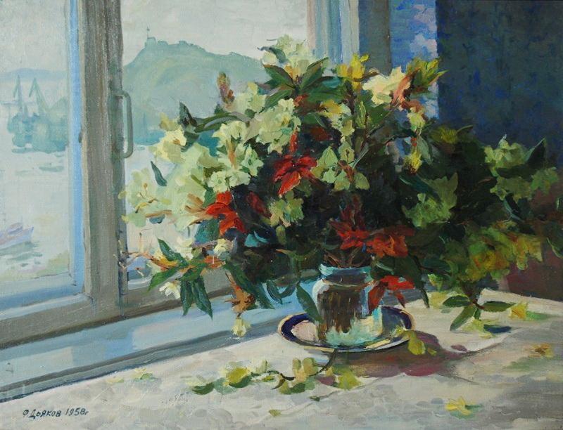Фёдор Григорьевич Дьяков. Рододендроны, 1958 г.