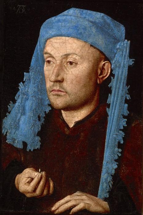 Ян ван Эйк. Мужчина с кольцом. Около 1430 г. 19,1x13,2 см Национальный музей Брукенталя, город Сибиу, Румыния.