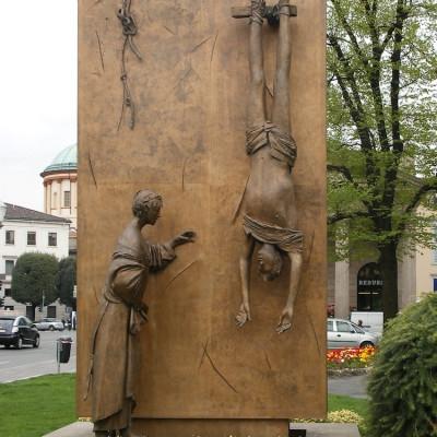 Дж. Манцу. «Памятник партизану» в городе Бергамо, Италия. 1977 г.