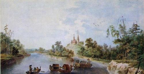 Жан Балтазар де ла Траверс  «Бронницы» (Новгородской губернии)  1786 г.